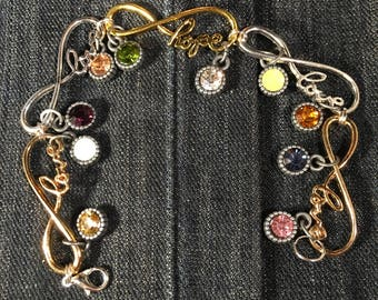 Hope and Love Charm Bracelet!!
