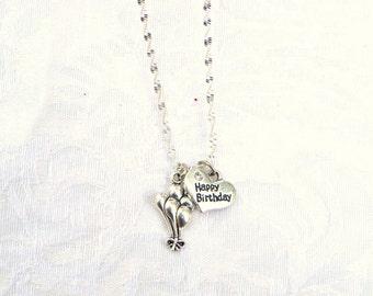 Happy Birthday  Necklace / women's jewelry / jewelry / teen jewelry / girls jewelry / women / Birthday / Happy Birthday