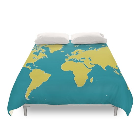 World map duvet cover modern duvets continents earth te gusta este artculo gumiabroncs Choice Image