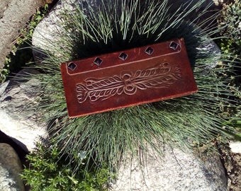 Vintage Leather Box, Vintage Jewelry Box, Leather Jewelry Box, Genuine Leather, Brown Jewelry, Brown Jewelry Box.