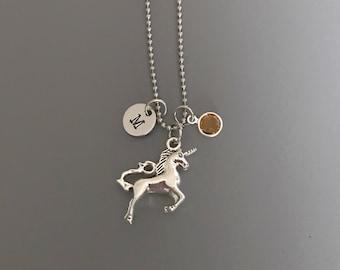 Unicorn Necklace-Hand Stamped Jewelry