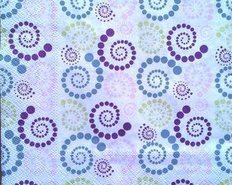 Your purple spiral napkin