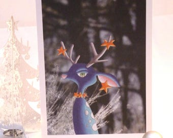 Frosty Stag Christmas card