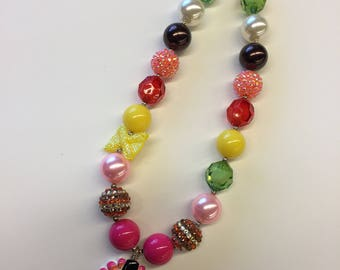 Thanksgiving turkey beaded necklace