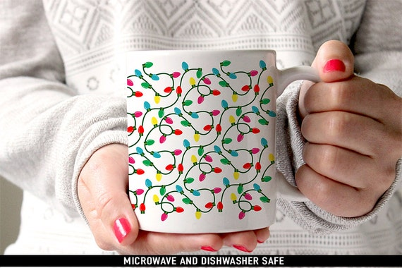 Coffee Mug Christmas Lights Coffee Cup