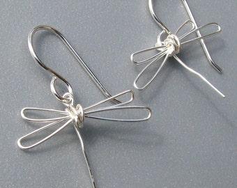 Dragonfly Earrings Sterling Silver