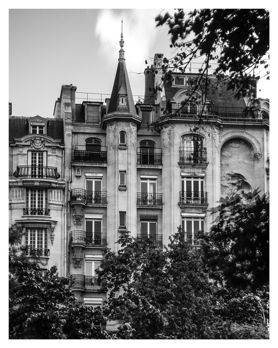 Paris Home Decor, Square du Temple, Black and White, Fine Art Print, Place de la Republique, Paris photography, French Wall Art, 5x7, 8x10