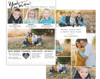 5x7 Year in review card - Instant download - e1167