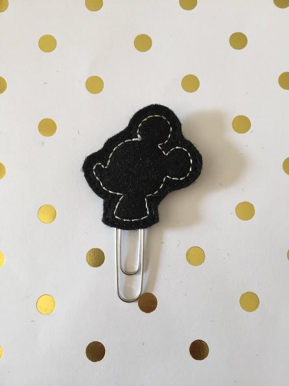 Mouse Silhouette planner Clip/Planner Clip/Bookmark. Character Planner Clip. Mouse Planner Clip. Boy mouse planner clip