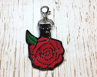 Red Rose Key Fob