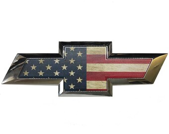 2014 2015 2016 2017 Chevy Bowtie Emblem Silverado 1500 Chevy Truck Grill Accessories American Flag