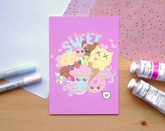 Sweets - Art Print/Postcard