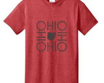 Ohio Youth Kids Heathered Red T-Shirt