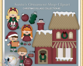 Santa Claus Ornament Shop Christmas Clipart