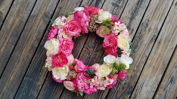 Spring Wreath, Summer Wreath, Easter Wreath, Mother's Day Wreath, Wedding Wreath, Ready to Ship
