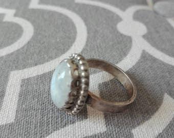 Vintage ring, old quartz ring