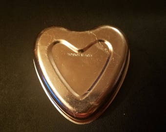 Cute Copper Heart Baking Pan / Jello Mold / Cooking / Baking / Kitchen