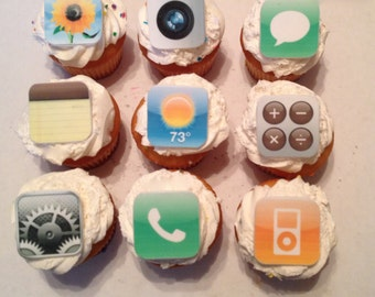 iPhone / IPad Inspired Fondant Cupcake Toppers
