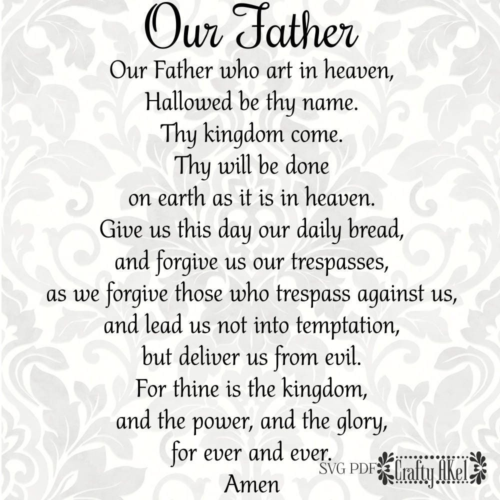 It is a picture of Witty The Lord's Prayer Printable