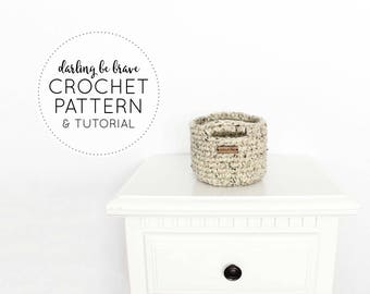 CROCHET PATTERN & TUTORIAL • The Mini Basket • Chunky Texture { Step by Step Photo Tutorials Included }