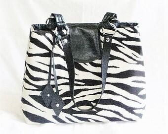 Zebra Handbags, Zebra Purses, Zebra Totes, Animal Print Handbags, Animal Print Purses, J'NING Handbags,