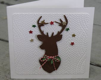 Woodland Reindeer Personalized christmas cards Corporate cards Holiday card Quilling christmas Happy Holidays