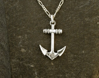 Sterling Silver  Anchor Pendant on a Sterling Silver Chain.
