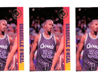 5 - 1993 Ballstreet Shaquille O'Neal Version 1 Basketball Card Lot Orlando Magic