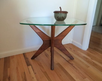 Adrian Pearsall Jack Table Side Table End Table Danish Modern Furniture Sculptured Leg Table Teak Furniture Modern Decor Modern Table