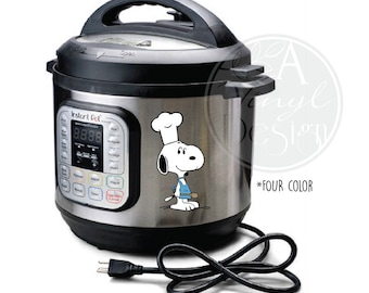 Snoopy Chef Vinyl Decal