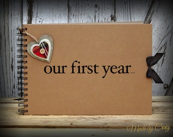 Our First Year Scrapbook, First Year Anniversary Gift, Boyfriend/Husband, Girlfriend/Wife, Photo Book, Memory Album, Christmas Gift Idea