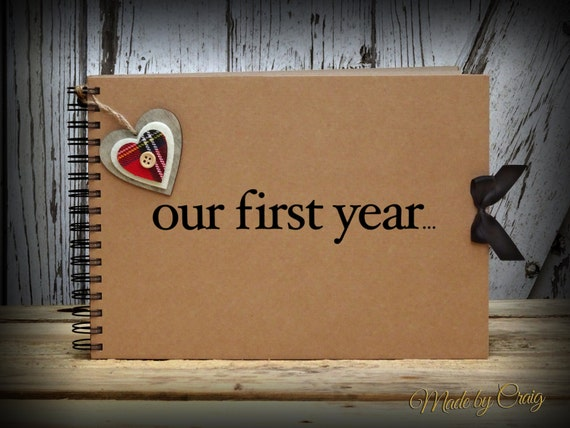 Our first year scrapbook first year anniversary gift