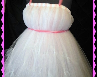 Pretty in Pink Tutu Dress, Photo Prop, Flower Girls, Fully lined and Sewn in,all sizes and ages welcome and you can CUSTOMIZE