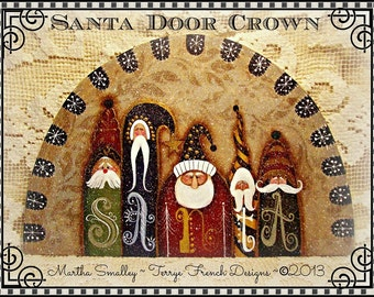 Santa Door Crown - Painted by Martha Smalley, Painting With Friends E Pattern