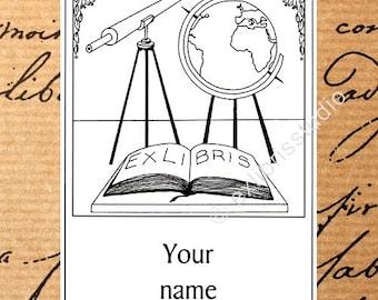 Ex Libris Travel 25 Personalized Bookplates Booklabels