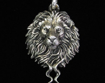 Solid Silver Lion Medallion