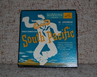 SALE // Set of Four Vintage Rodgers-Hammerstein South Pacific 45 rpm Records