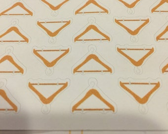 hanger, dry cleaning, laundry planner stickers - stickers for planners, journals, scrapbooks and more!