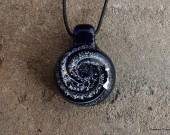 Spiral/Galaxy Memorial Pendant (Blown Glass/Ash Remains)