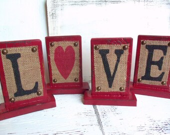 LOVE burlap standing sign, heart, rustic wedding, wedding reception, wedding planner, party, bridal, wedding table decor, sweetheart table