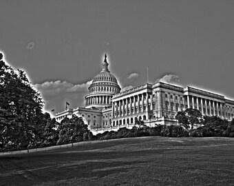 United States Capital Black & White 8x10 photo