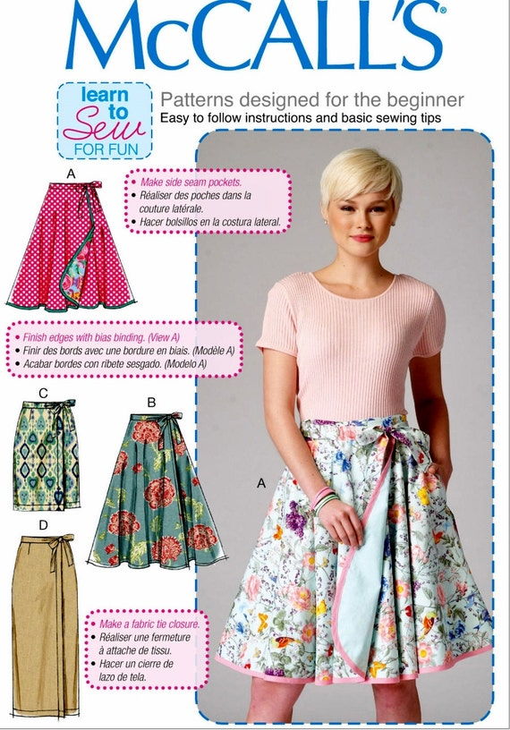 Sewing Pattern Wrap Skirt Pattern Learn to Sew a Skirt