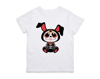 Fifty5 Clothing Day of the Dead Bunny Kids Tee