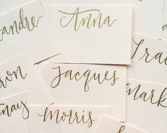 Place Cards, Custom Calligraphy