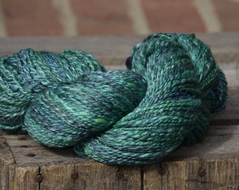 Emerald Eyes Hand dyed Handspun Yarn