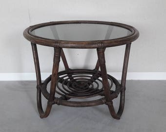 Vintage Rattan Coffee Table Side table