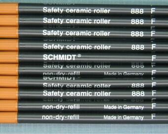 Rollerball Ink Refills Schmidt 888 F Black Fine (Set of 10 Refills ) Free Shipping Worldwide