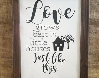 Love Grows Best 12x16 Canvas