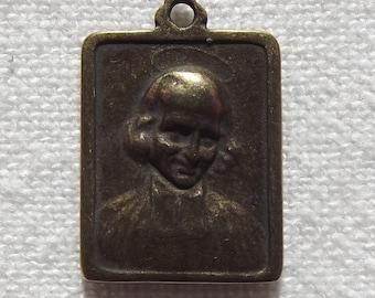 Bronze St. John Vianney and St Philomena Medal VP751