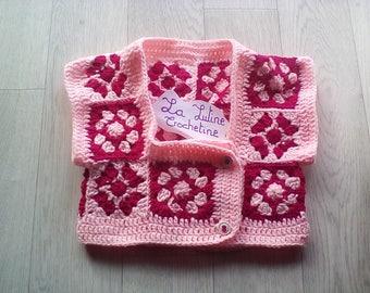 Bolero for girl handmade crochet